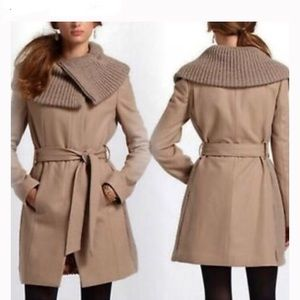 Anthropologie Elevenses Judith Wool Blend Coat